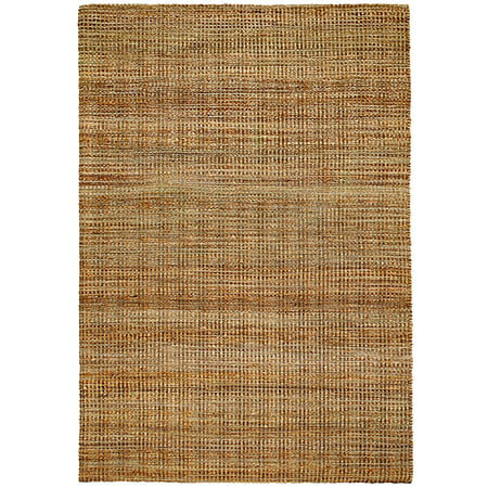 Natural Fiber Hebrides 8 ft. x 10 ft. Hand Woven / Hand Loomed with Jute & chenille in India Rustic Modern Abstract Distressed Solid Brookside Hebrides Indoor Rectangle Area
