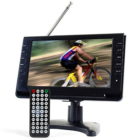 Tyler Ttv702 9  Portable Widescreen Lcd Tv With Detachable Antennas  Usb Sd Card Slot  Built In Digital Tuner  And Av Inputs