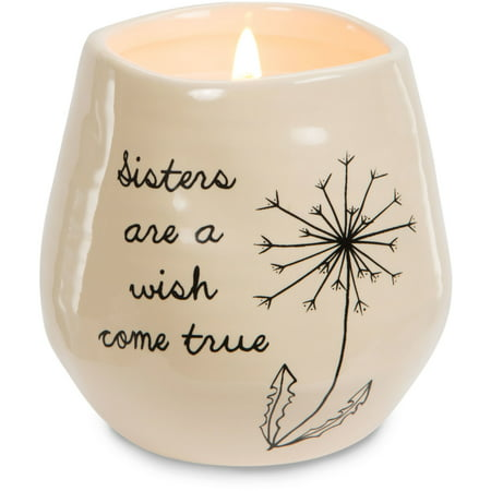 Pavilion - Sisters are a Wish Come True Yellow Ceramic Soy Serenity Scented Candle