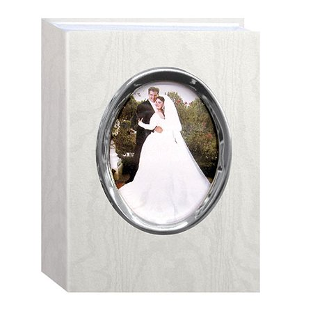 - Pioneer WFM-46 Oval Framed Wedding Album Silver Frame NO Wedding Text