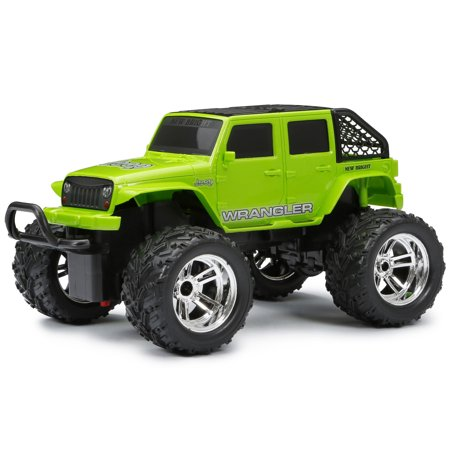 New Bright 1 16 Scale Rc Chargers 4 Door Jeep Green Walmart Com
