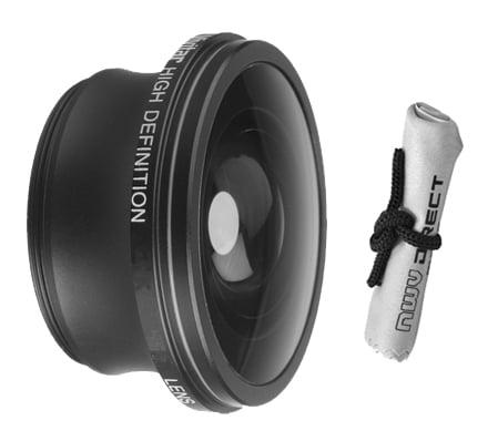 Viv//Optics 2.2X Teleconverter Lens for Canon VIXIA HF M300 Nwv Direct Microfiber Cleaning Cloth