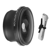 2.2x Teleconverter Lens For Sony DCR-DVD705 + Stepping Ring (25mm-37mm) + Nwv Direct Microfiber Cleaning Cloth