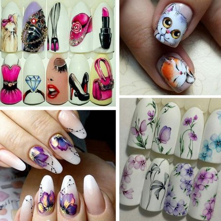 Stz Nail Sticker Diy Nail Sticker Manicure Tool Nail Art Decoration - image 2 of 4