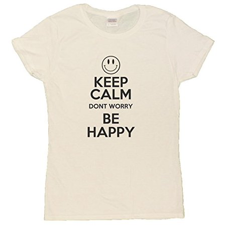 ce8c7fa0 Gildan - Keep Calm, Don't Worry Be Happy Robin Williams Tribute Ladies T- Shirt - Walmart.com