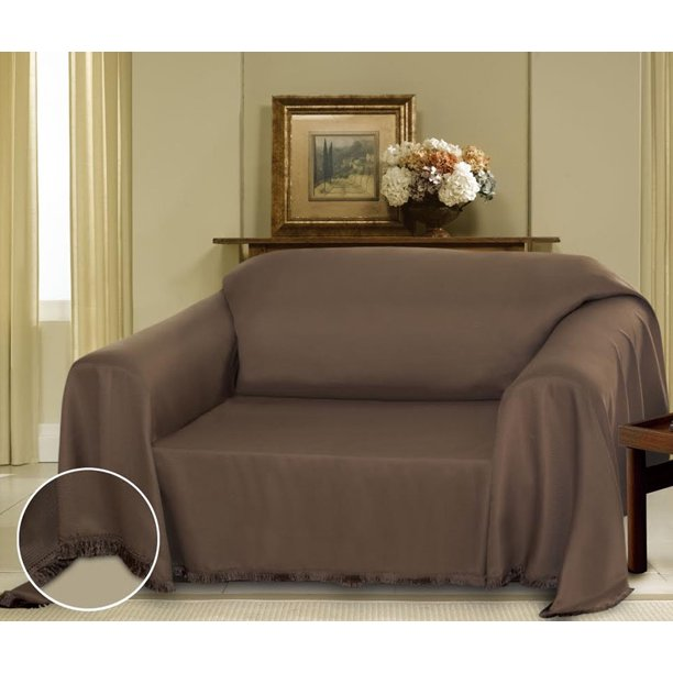 Cielo Furniture Throw Cover, Fringe Bottom, Sofa (Cocoa/Brown) - Walmart.com - Walmart.com