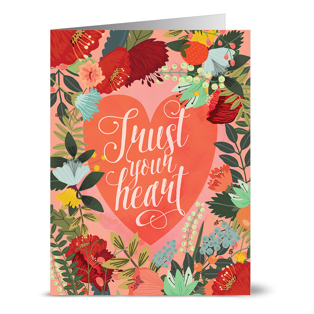 24 Note Cards - Trust Your Heart - Blank Cards - Kraft Envelopes Included