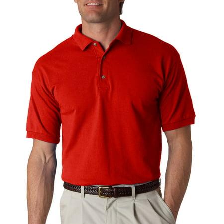 b94a5682e8d Gildan - Gildan 2800 Men's Jersey Polo Shirt -Red-Large - Walmart.com