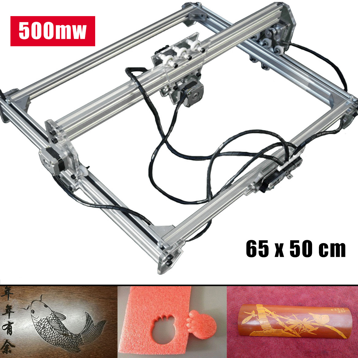 500MW 65x50cm Blue Laser Engraver Cutter Carver Printer Carving Engraving Machine