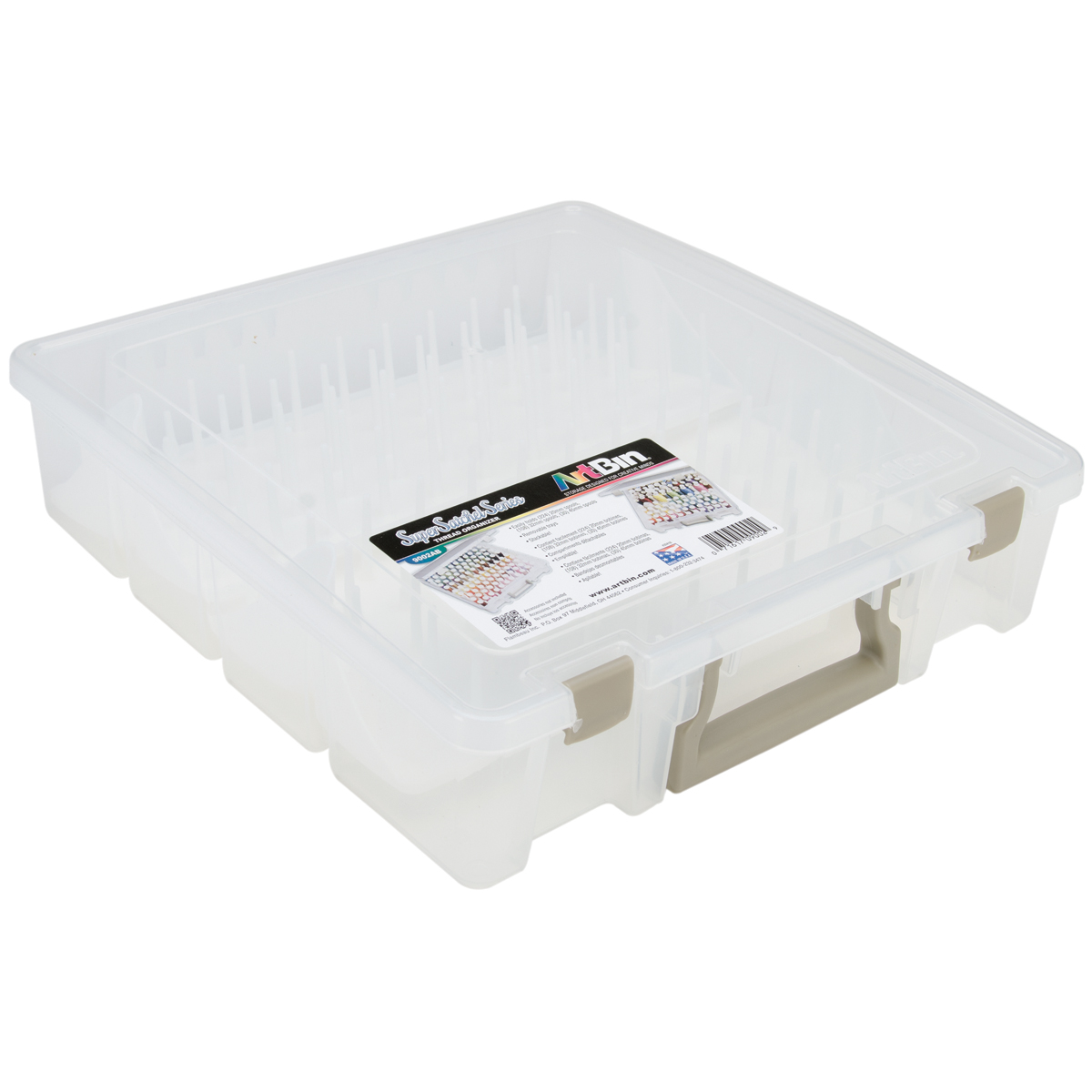 Thread Box-Super Satchel Storage Container with two removable trays 9002AB