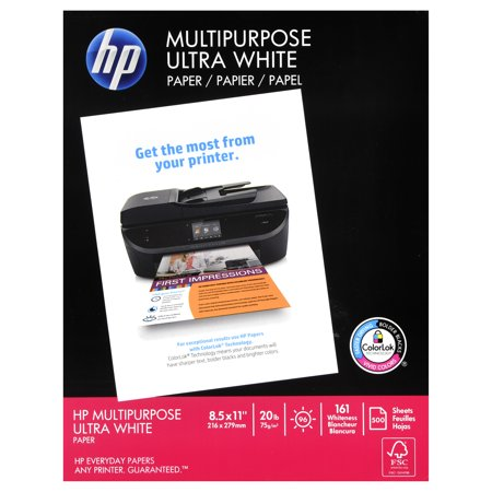 HP Multipurpose Paper, 8.5 x 11 In, 20 lb, 96 Bright, 500 sheets ()