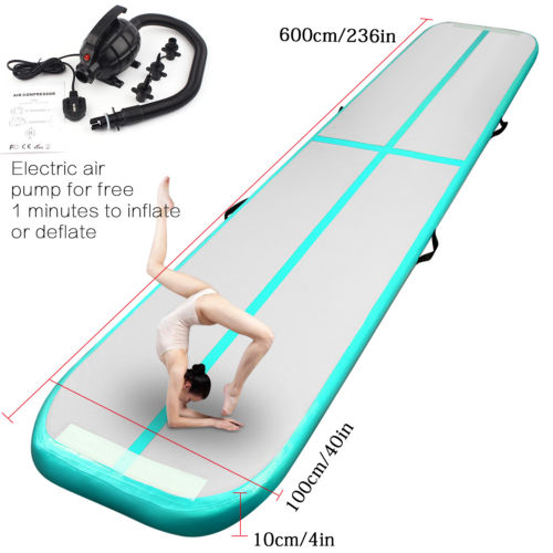 6m*1m*0.1m Inflatable Air Track Tumbling Floor Gymnastics Practice Training Pad GYM Mat