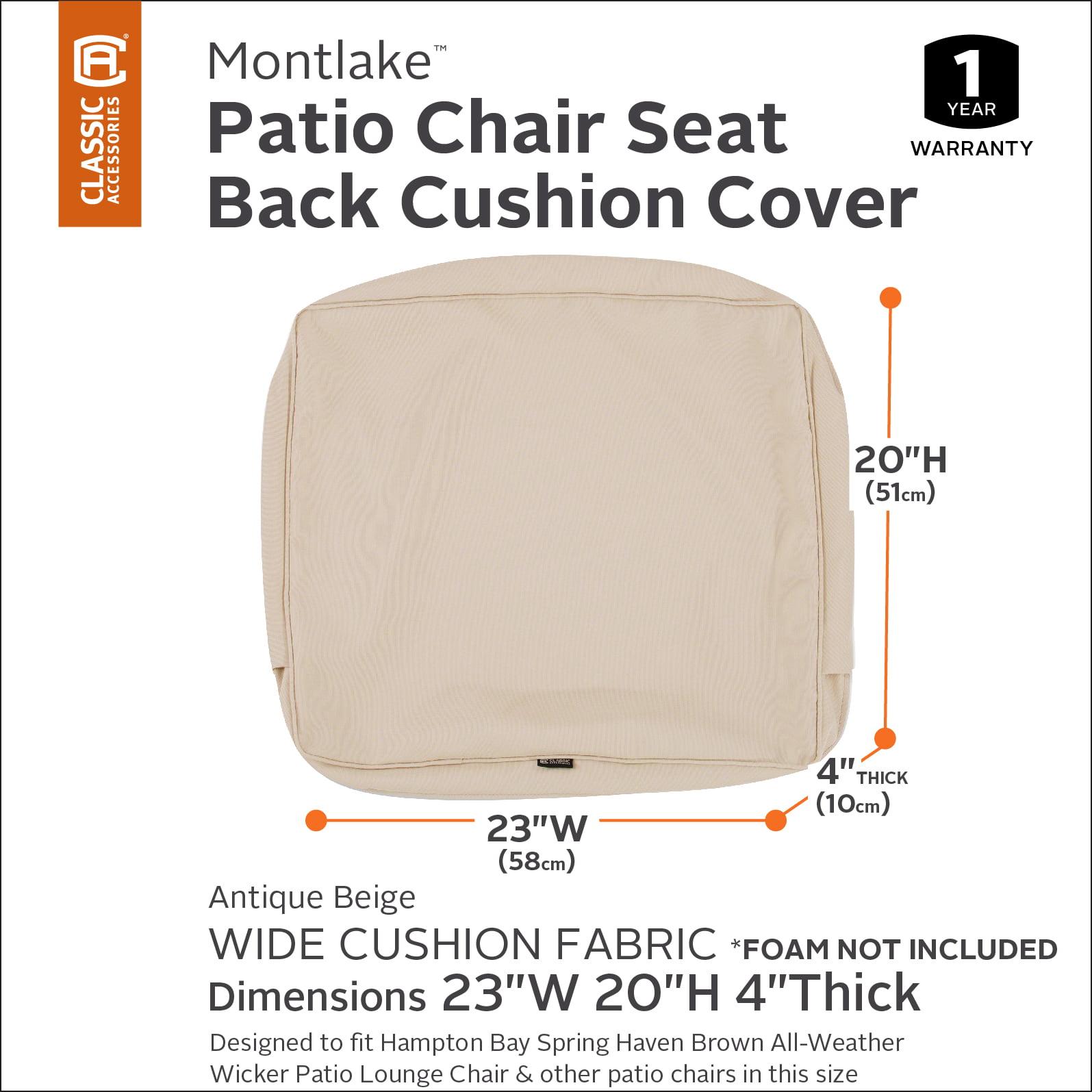 "21/""W x 20/""H x 4/""T Classic Accessories Montlake FadeSafe Cushion Slip Cover"