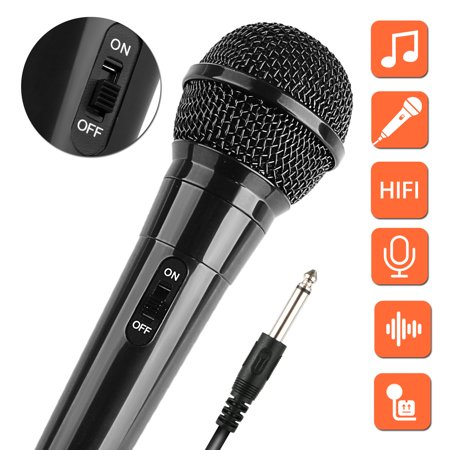TSV Dynamic Vocal Microphone Cardioid Handheld Microphone with On/Off Switch for Karaoke, Live vocal, Speech etc. includes 10ft XLR to 1/4