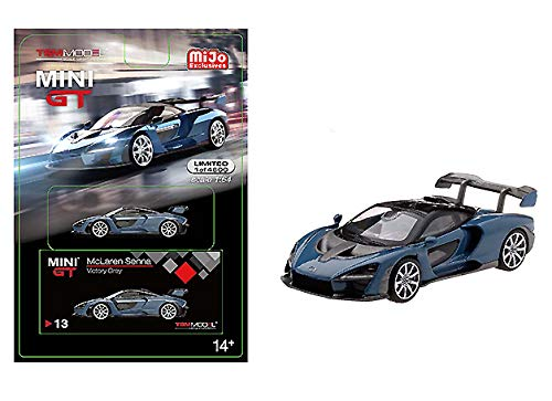 TSM Model Mini-GT 1:64 2020 Overseas Box Version LHD Silver McLAREN SENNA #171-L