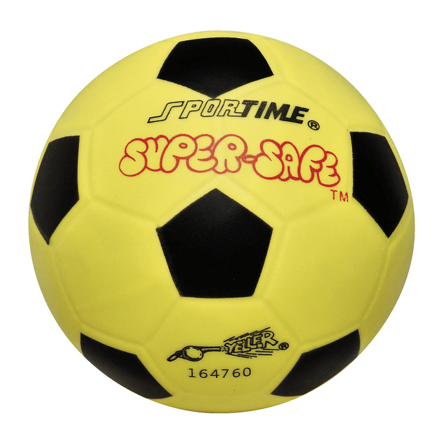 Sportime Super-Safe Soccer Ball, Yellow/Black, 6 inches