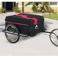 Anself Large Bicycle Bike Cargo Trailer Luggage Storage Cart Carrier
