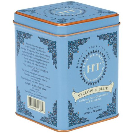 Blue Toile Tea (Harney & Sons, Yellow & Blue, Caffine Free, 20)