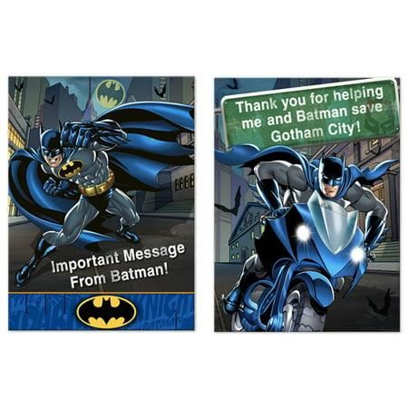 Batman 'Dark Knight' Invitations  and Thank You Cards w/ Envelopes (8ct)](Batman Photo Invitations)