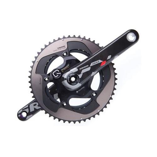 SRAM 2013 Red Quarq BB30 Power Meter Road Bicycle Crankset  (Black two-tone - 175 x 53/39)