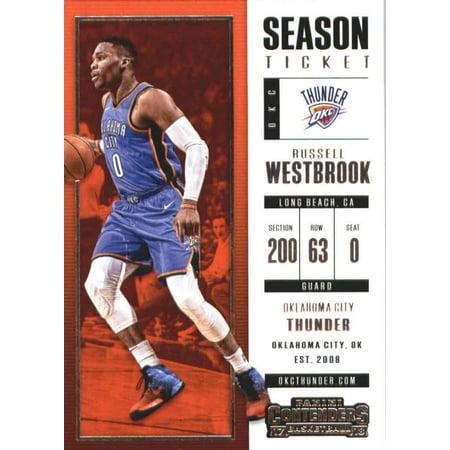 2017-18 Panini Contenders Season Ticket #51 Russell Westbrook Oklahoma City Thunder Basketball Card