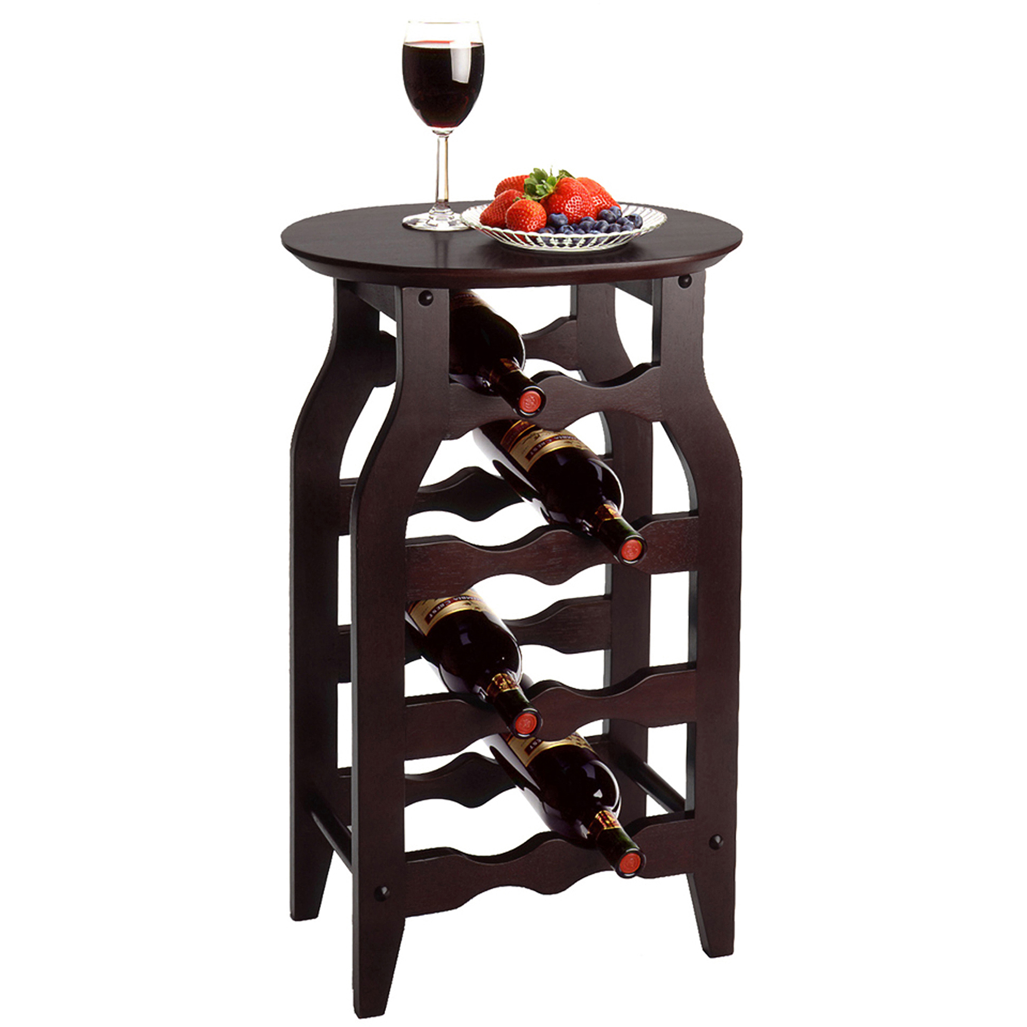 Solid Wood 8-Bottle Wine Rack, Espresso