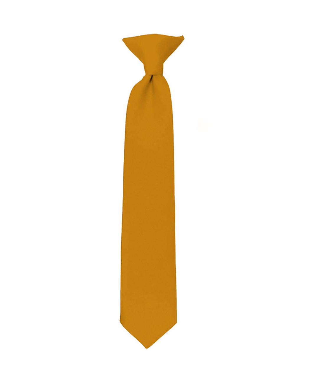 NYfashion101 Boy's Solid Clip on Tie- Fuschia