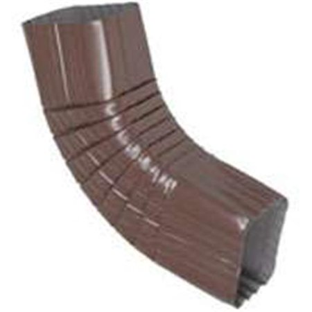 Amerimax Home Products 2526519 Brown Aluminium Elbow 2 x 3 In. Style B