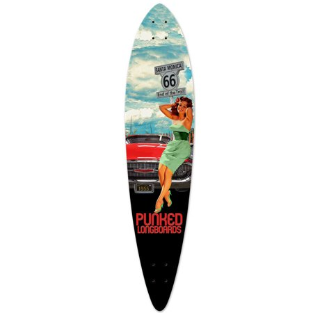 Yocaher Pintail Longboard Deck - Route 66 Series - RTE-66