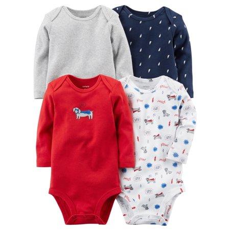 8ecdd5693 Carter's baby boys 4-Pack Long-Sleeve Original Bodysuits Multi ...