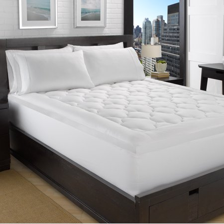 2 Quot Loft 100 Cotton Plush Gel Fiber Filled Mattress Topper