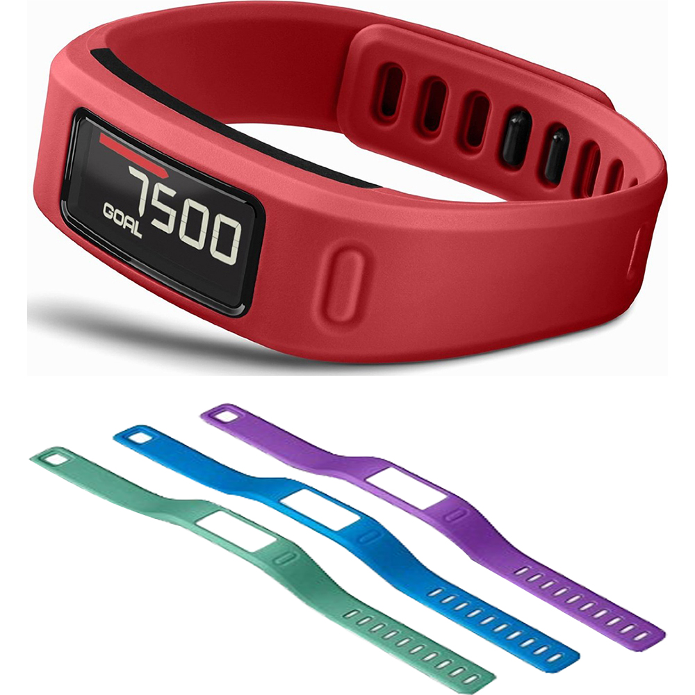 Garmin Vivofit Bluetooth Fitness Band (Red) (010-01225-08...