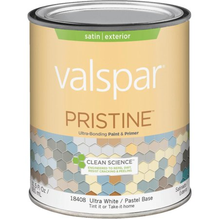 Valspar Pristine 100 Acrylic Paint Primer Satin Exterior House Paint