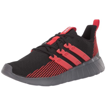 adidas Men's Questar Flow Running Shoe, Black/Active Red/Grey, 11 M US