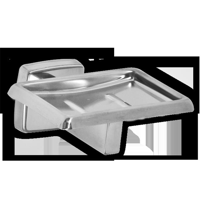 AJW UX121-SF Satin Soap Dish Without Drainage Holes - Surface Mounted