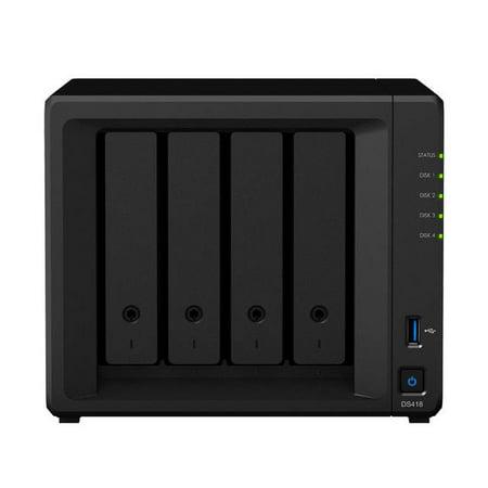Synology DiskStation DS418 4-Bay Desktop NAS for