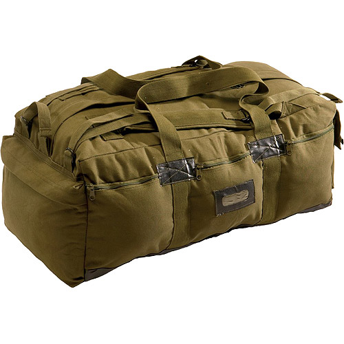 Texsport Canvas Tactical Bag, Olive Drab Green