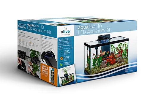 AquaDuo 10 Gallon LED Aquarium Kit by Elive