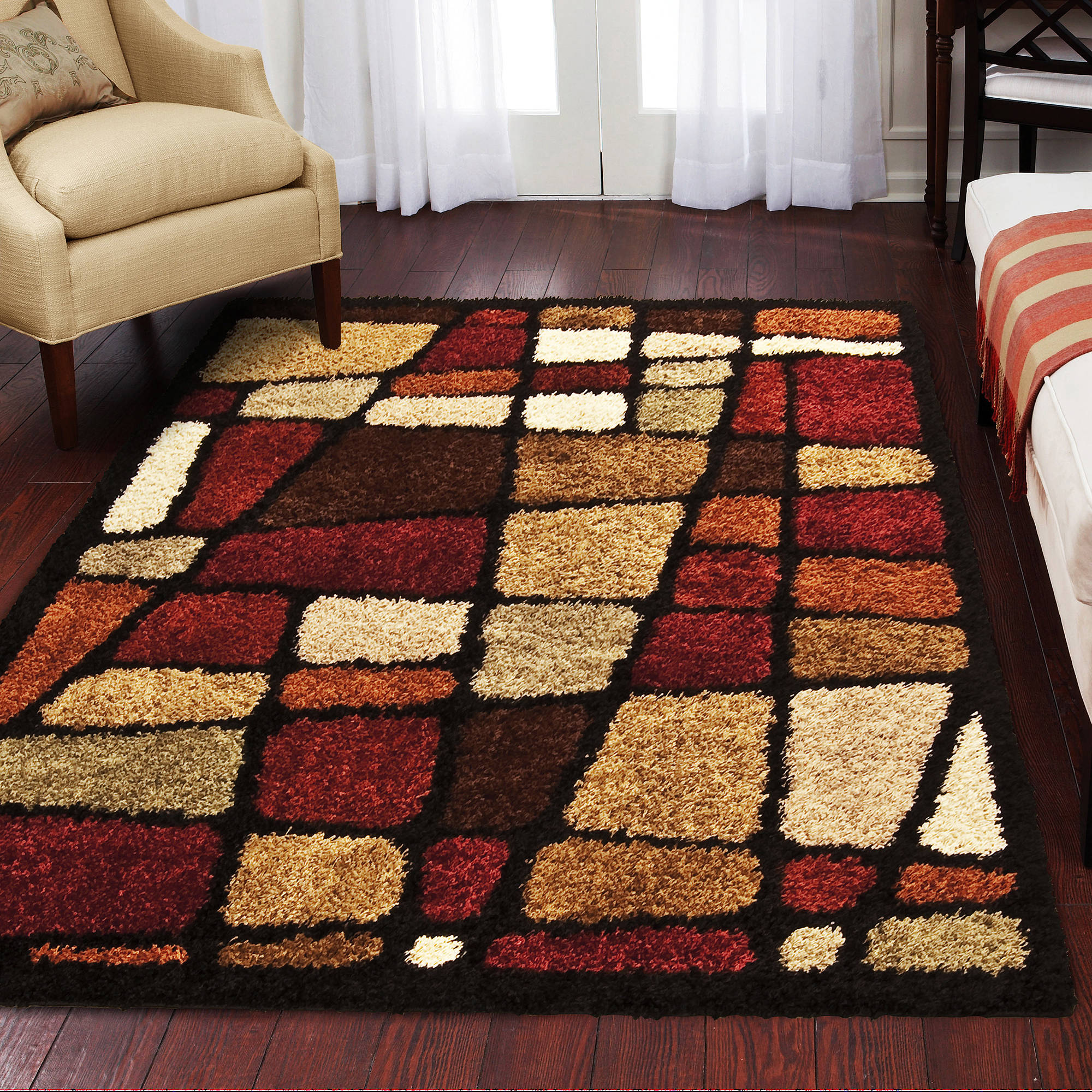 Orian Rugs Shag Streetfair Multi-Colored Area Rug or Runner