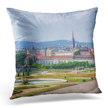 BSDHOME Memories Panoramic View Over Vienna Austria From Traveler Pillowcase Cushion Cover 18x18 inches - image 1 of 1