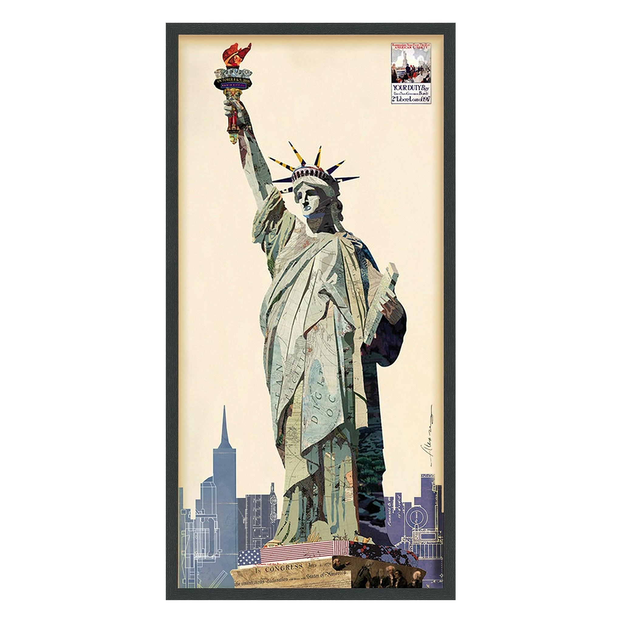 Empire Art Direct Empire Art Lady Liberty Hand Made Signed Art