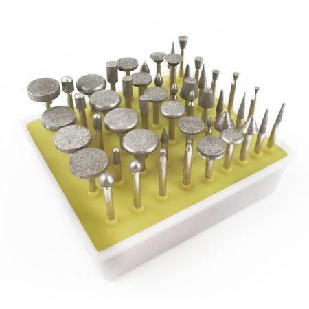 Bits Diamond Tools (50pc Diamond Burr Bit Set for  Rotary Tool (Multiple Grit Sizes))