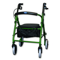 Invacare Supply Group Soft Seat Aluminum Rollator With Round Back