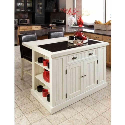 home styles nantucket kitchen island, distressed white - walmart
