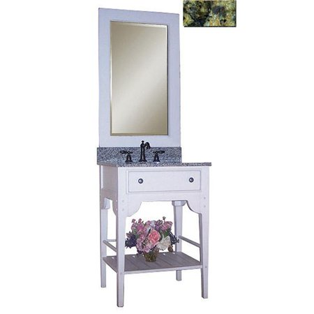 - Dover 24 in. Vanity with Cottage White Sherwin Williams Finish and Green Granite Top