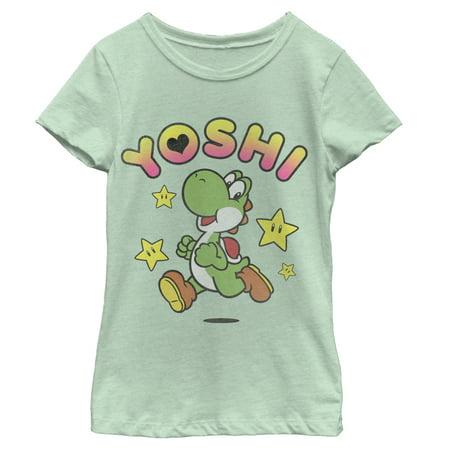 Nintendo Girls' Yoshi Love T-Shirt - Is Yoshi A Girl Or A Boy