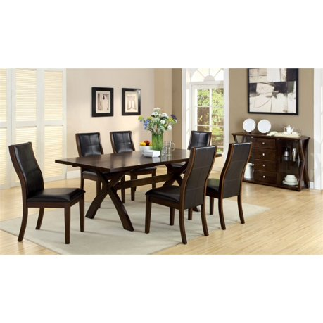 Furniture of america egnew 7 piece extendable dining set for Furniture 7 reviews