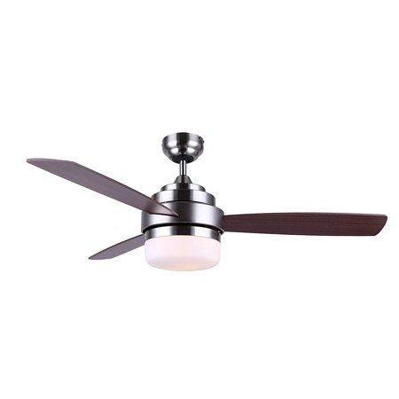 BLACK+DECKER 52 Inch Reversible 3 Blade Indoor Ceiling Fan, Natural Wood