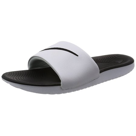 NIKE Kids' Kawa Slide Sandal, White/Black, 3 M US Little Kid