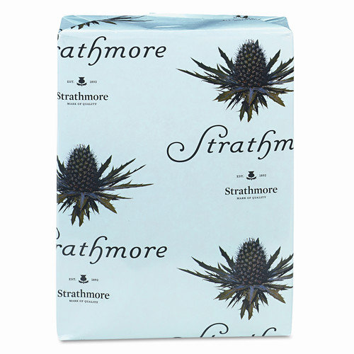 strathmore writing 25% cotton stationery paper laid finish watermarked, 24 lb, 8.5 x 11 inch, 500 sheets/ream - sold as 1 ream, natural white shade (300161)